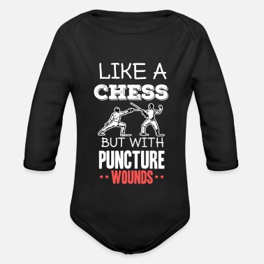 Fechten - Fencing - like a chess but with puncture - Organic Long-Sleeved Baby Bodysuit