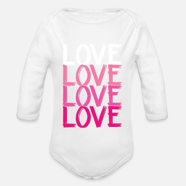 Loves Love Love Love Love - Organic Long-Sleeved Baby Bodysuit
