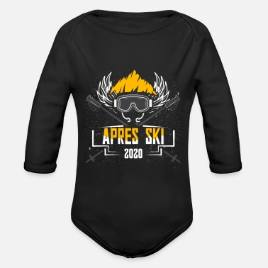 Apres ski party outfit for skiers winter sports - Organic Long-Sleeved Baby Bodysuit