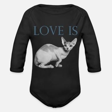 Sphynx Love Is Sphynx cat Valentine's Day - Body Bébé bio manches longues
