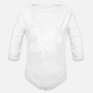 Piece Puzzle Piece - Organic Long-Sleeved Baby Bodysuit