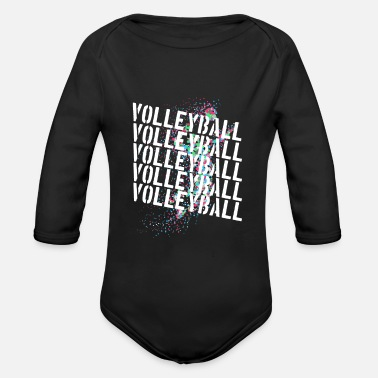 Volleyball Player Volleyball players Beach volleyball players volleyball - Organic Long-Sleeved Baby Bodysuit