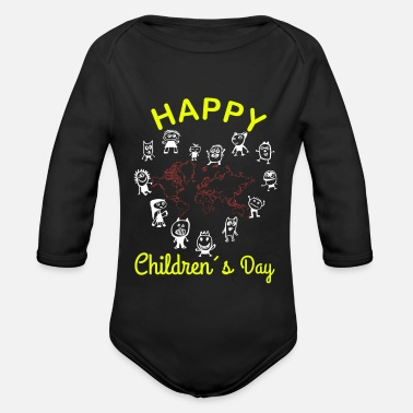 Childrens Day Happy Children's Day World Children's Day Children's Earth - Organic Long-Sleeved Baby Bodysuit