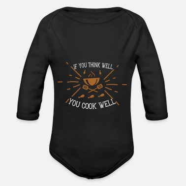 Girlie If you think well, you cook well - Body Bébé bio manches longues