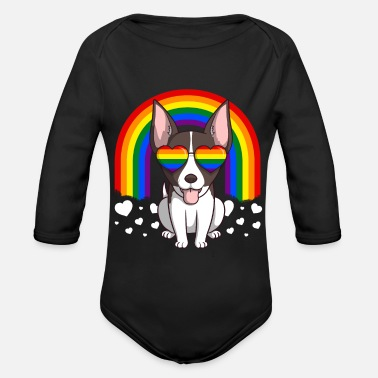 Strano Gay Pride LGBT Rainbow di Rat Terrier Dog - Body a manica lunga per neonati