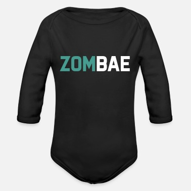 Beiser Halloween zombie undead corpse creature dead costume - Organic Long-Sleeved Baby Bodysuit