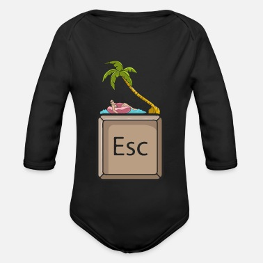 Escape Vacation Woman - Organic Long-Sleeved Baby Bodysuit