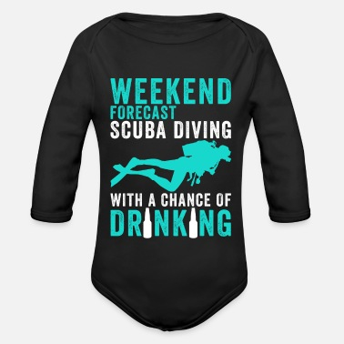 Scuba Gift idea for divers - Organic Long-Sleeved Baby Bodysuit