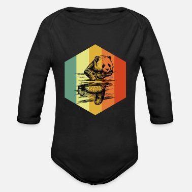 Mammal MAMMAL Distressed Eutherian Mammal Tshirt - Organic Long-Sleeved Baby Bodysuit