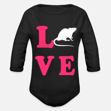 Mammal Rodent Love - Organic Long-Sleeved Baby Bodysuit