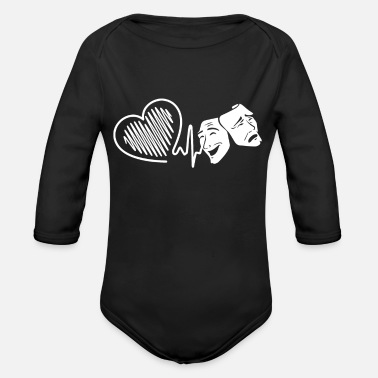 Actor Actor Actor Heartbeat - Organic Long-Sleeved Baby Bodysuit
