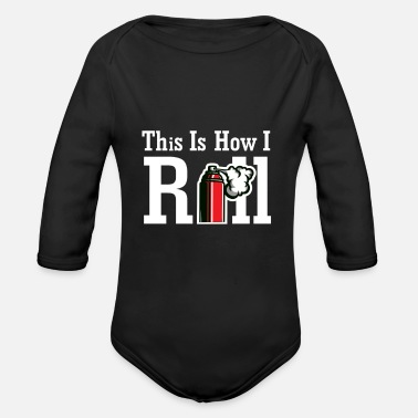 Lacquerer This is how I roll I Maler Rolle Farbe - Organic Long-Sleeved Baby Bodysuit
