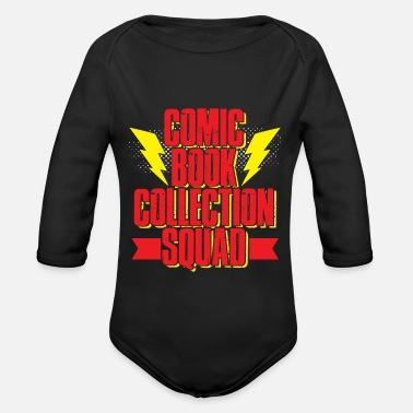 Comics Comic - Organic Long-Sleeved Baby Bodysuit