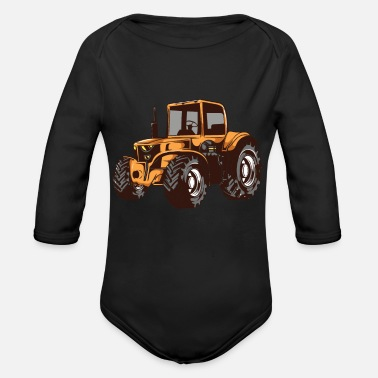 Truck Driver Farmer tractor tractor gift motif - Organic Long-Sleeved Baby Bodysuit