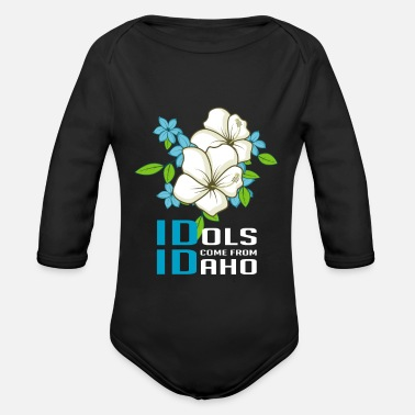 United States Idols Idaho Talented person gift - Organic Long-Sleeved Baby Bodysuit