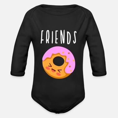Friends Friends Best Friends - Organic Long-Sleeved Baby Bodysuit