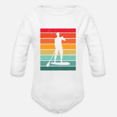 Stand Up Paddle Stand Up Paddle Stand Up Paddle Stand Up Paddling Gift - Organic Long-Sleeved Baby Bodysuit