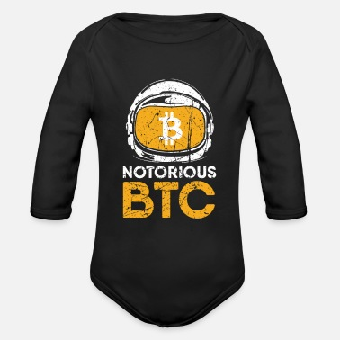Wife Funny Gift Bitcoin Crypto JUST Shirt - Organic Long-Sleeved Baby Bodysuit