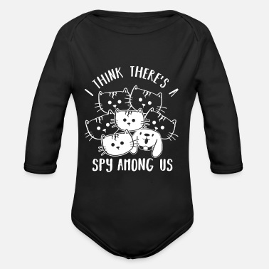 Group Funny cats saying cat lover kittens - Organic Long-Sleeved Baby Bodysuit