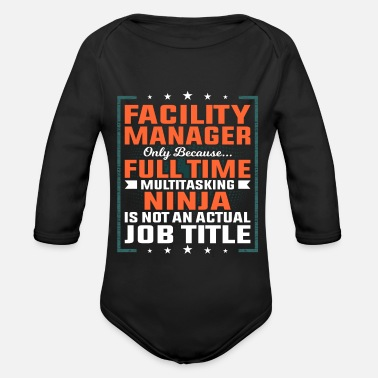 Plant Facility manager profession employee gift idea - Organic Long-Sleeved Baby Bodysuit