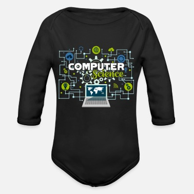 Computer Science Computer Science Proud Computer Science - Organic Long-Sleeved Baby Bodysuit