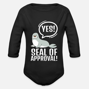 Collector Seal Of Approval Animal Pun - Organic Long-Sleeved Baby Bodysuit
