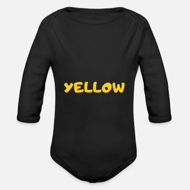 Yellow Yellow - Organic Long-Sleeved Baby Bodysuit