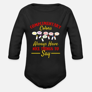 Complimentary Artist Gifts Complimentary Colors Designer Painter - Organic Long-Sleeved Baby Bodysuit