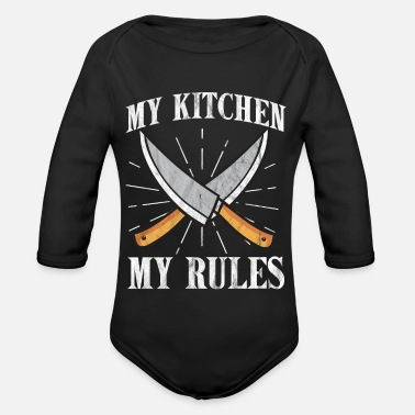 Cuisine Cooking Cuisine Gourmet Culinary Cuisine - Organic Long-Sleeved Baby Bodysuit