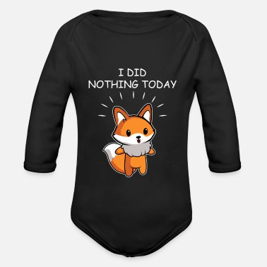 Lol Did nothing lazy and funny gift - Organic Long-Sleeved Baby Bodysuit
