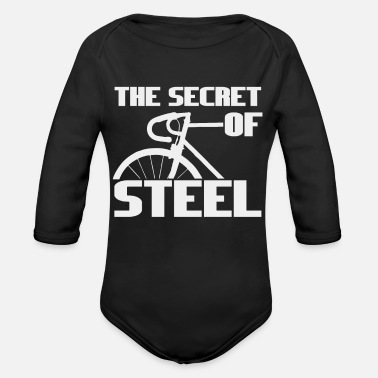 Steel The secret of steel - a bicycle made of steel - Organic Long-Sleeved Baby Bodysuit