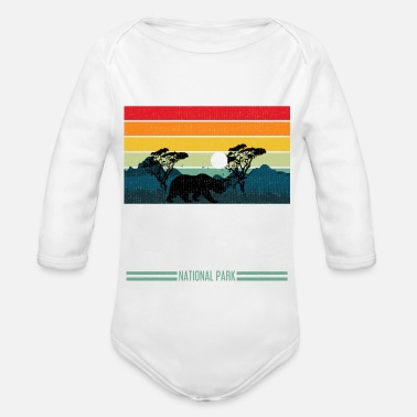 Helped Dome Yosemite National Park California Bear Gift - Organic Long-Sleeved Baby Bodysuit