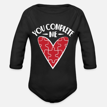 Couples You complete me I You complete me - Organic Long-Sleeved Baby Bodysuit