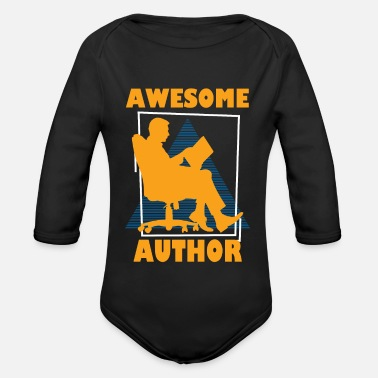 Work Retro Author Graphic T Shirt - Organic Long-Sleeved Baby Bodysuit