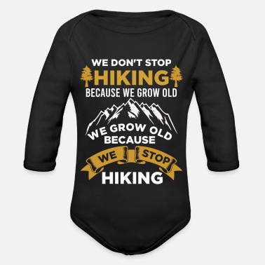 Journey Never stop hiking - Organic Long-Sleeved Baby Bodysuit
