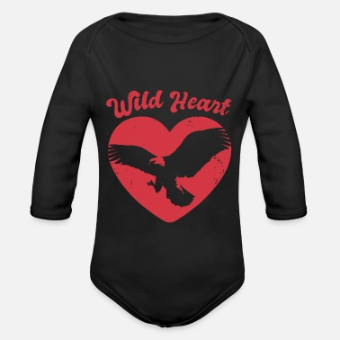 Forest Animal Nature Forest Flying Eagle - Organic Long-Sleeved Baby Bodysuit