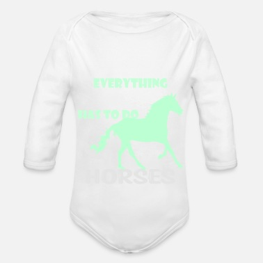 Inn Horse Riding Rider Reistall Gifts - Organic Long-Sleeved Baby Bodysuit