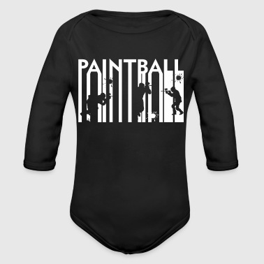 Paintball Paintball - Body bébé bio manches longues