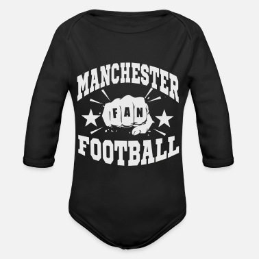 Fan Section Manchester Fan - Organic Long-Sleeved Baby Bodysuit