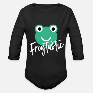 Grenouille Grenouille grenouille - Body Bébé bio manches longues