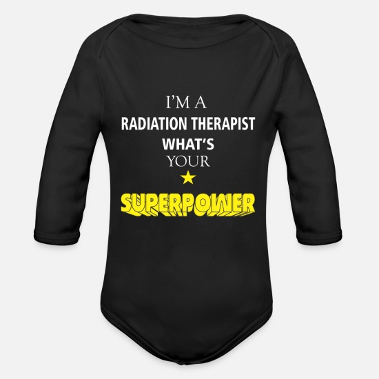 Radiation Baby Clothes - Radiation Therapist - I'm a Radiation Therapist - Organic Long-Sleeved Baby Bodysuit black