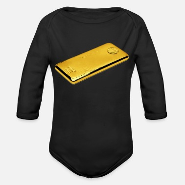 Gold Beach gold - Organic Long-Sleeved Baby Bodysuit