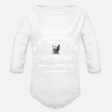 Xl American Bulldog XL luck - Organic Long-Sleeved Baby Bodysuit
