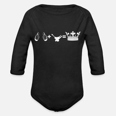 hobby plus i'm king electronics technician - Organic Long-Sleeved Baby Bodysuit
