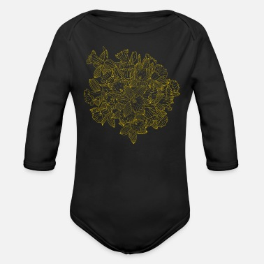 Nightspot Daffodil Bouquet by Night - Organic Long-Sleeved Baby Bodysuit