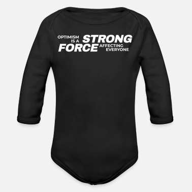 Optimism optimism - Organic Long-Sleeved Baby Bodysuit