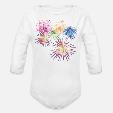 Happy New Year Happy New Year, Happy New Year, Happy New Year - Organic Long-Sleeved Baby Bodysuit
