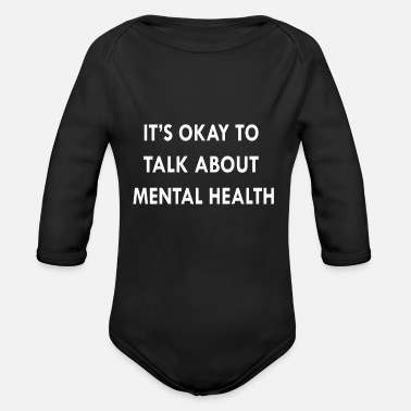 Mental Mental Health - Organic Long-Sleeved Baby Bodysuit
