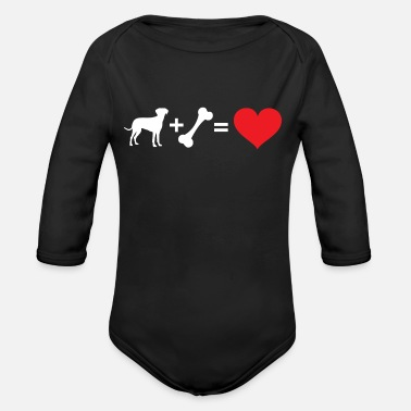 Addition Dog and Heart Addition - Chemise pour chien - Body bébé bio manches longues