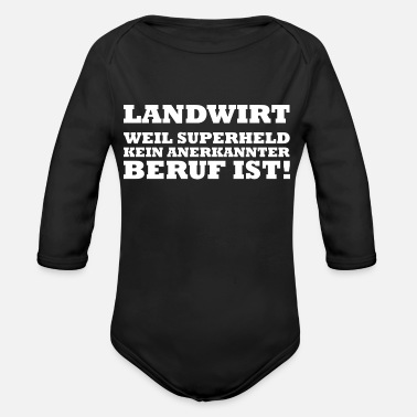Grandpa Farmer farmer farmer farm gift - Organic Long-Sleeved Baby Bodysuit